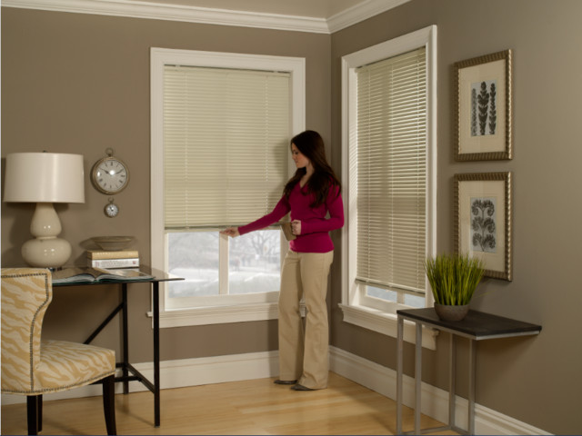 Blinds.com Brand Completely Cordless Mini Blind traditional-home-office