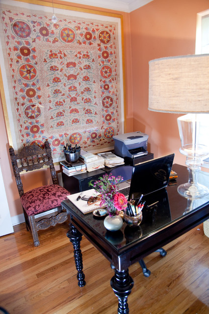 Bohemian Condo Eclectic Home fice chicago by
