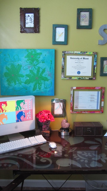 BoHo Bedroom Office eclectic-home-office