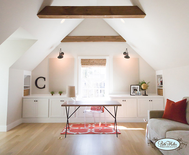 attic remodeling ideas pictures - Bonus Room Home fice Transitional Home fice
