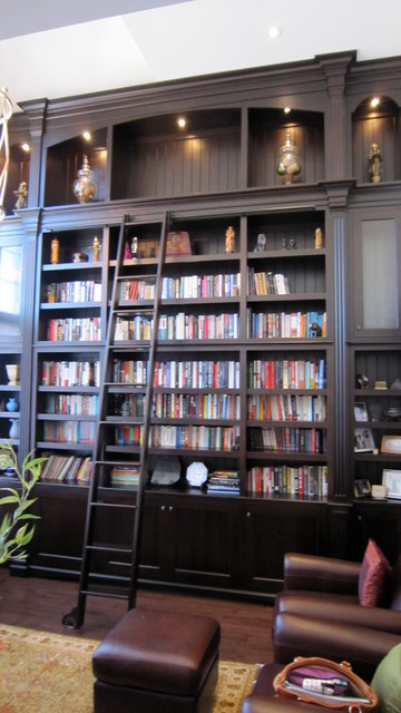 Bookcases transitional-home-office