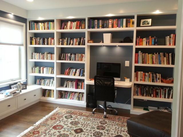 bookshelves contemporary home office philadelphia by a k