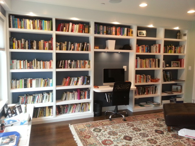 Bookshelves Contemporary Home Office Philadelphia