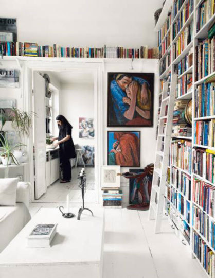 Bookshelves eclectic-home-office
