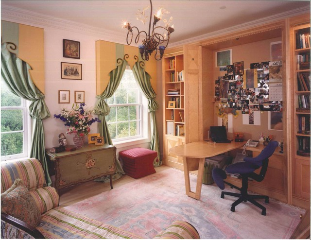 Boston Apartment eclectic-home-office