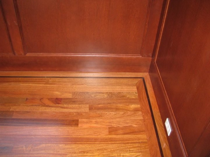 Brazilian Cherry Floor With Walnut
