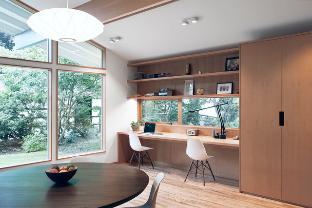 Bridle Trails Remodel Midcentury Home Office