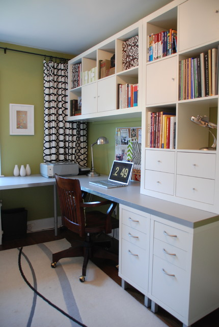 Bright Green Office contemporary-home-office