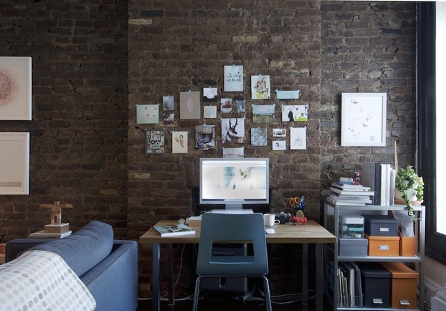 brooklyn apartment contemporary home office apartment home office
