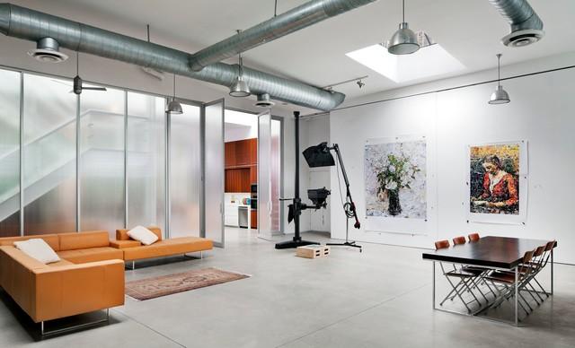 brooklyn artist loft industrial home office artist office