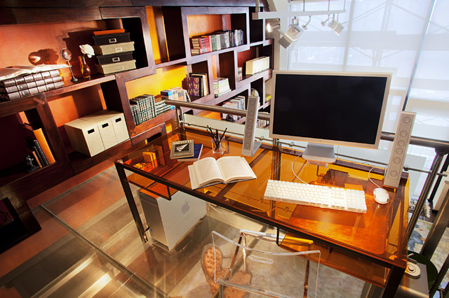 brooklyn loft contemporary home office new york by joe