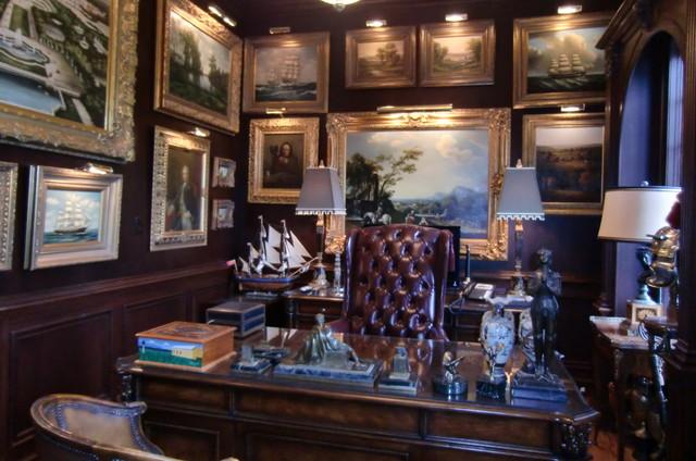 Buckingham billiard room / office traditional-home-office