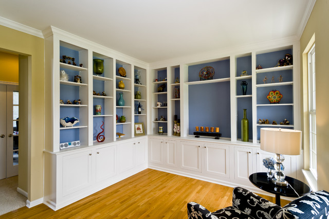Built-In Bookcase traditional home office