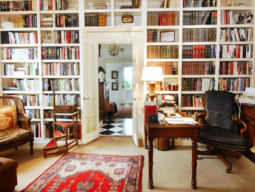 Built In Bookcase Wall Traditional Home Office