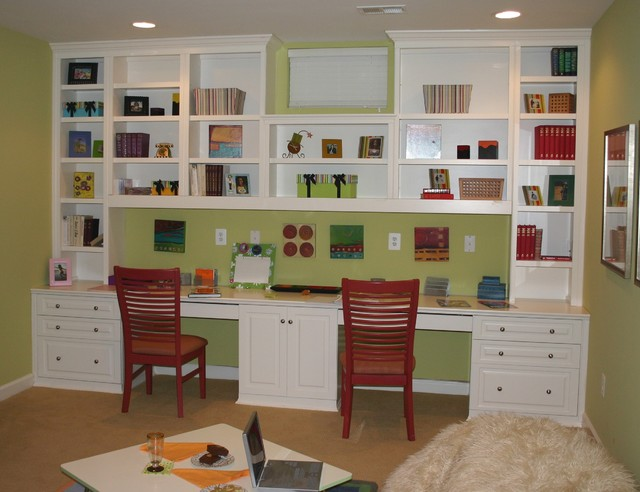 Built in cabinets traditional home office other Built in study desk