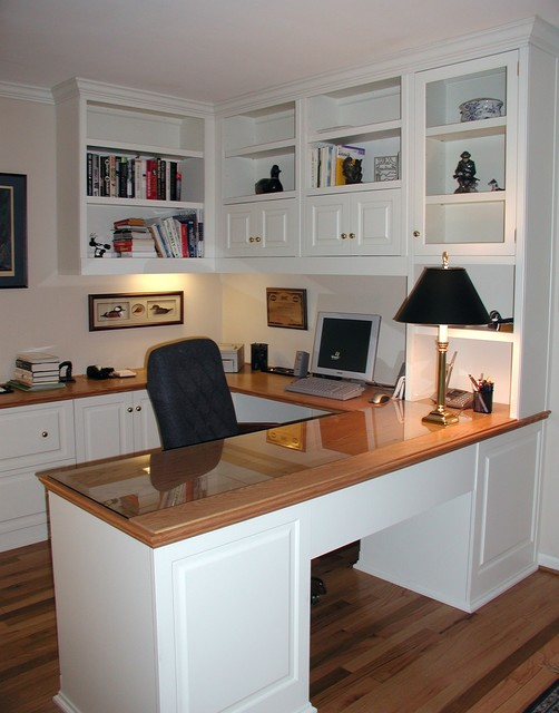 Nice Built In Cabinets Traditional Home Office, DC Metro
