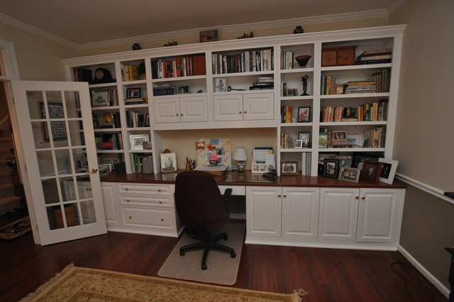 Built In Cabinets Traditional Home Office Dc Metro By