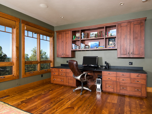 Rough Luxe traditional-home-office