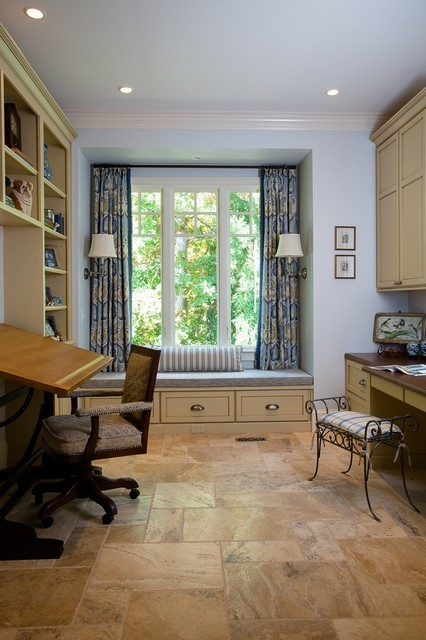 Built-in Storage traditional-home-office