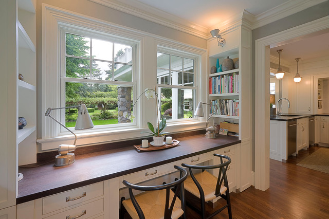 Built Ins Traditional Home Office Portland By