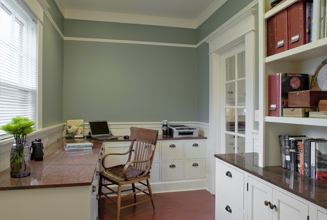home office renovation. Bungalow Office - Powrie Craftsman-home-office Home Renovation F
