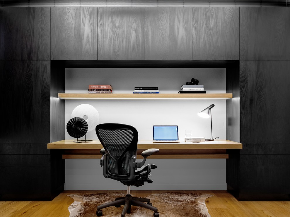 Inspiration for a contemporary home office remodel in Sydney