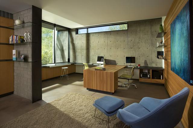 Byrnes Residence   Phoenix, AZ Modern Home Office
