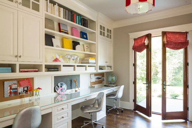 Bywood Street Residence traditional-home-office