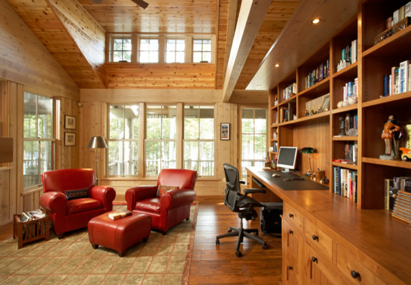 Cabin Lake Home Traditional Home Office Minneapolis