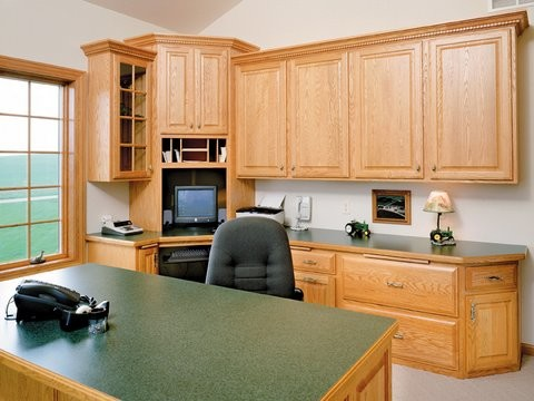 Cabinets traditional-home-office