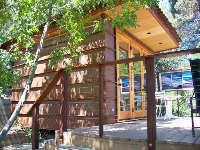 California Classic Contemporary Cabin contemporary-home-office