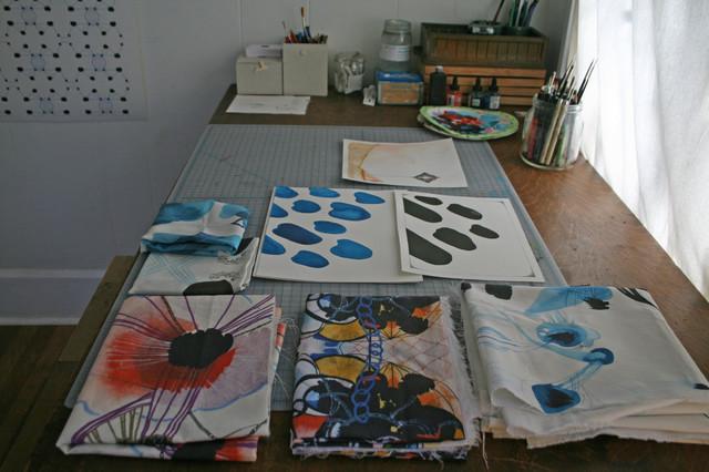 Callen Thompson's Art Studio eclectic-home-office