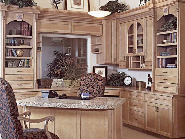 Canyon Creek Cornerstone - Limoges in Maple w/Vanilla Glaze mediterranean-home-office