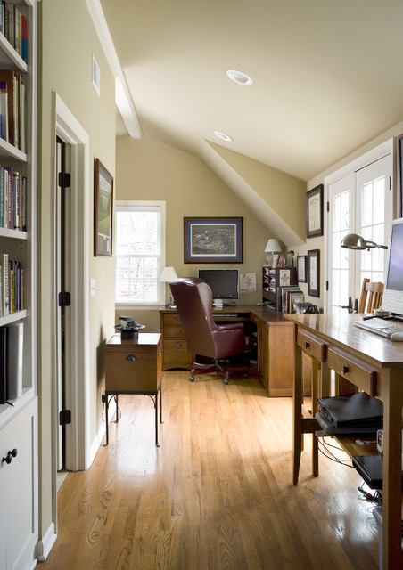 Cape Cod Addition Home Office Traditional Home Office
