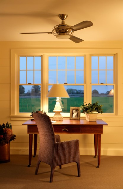Cape Cod Shingel Style Office Study traditional-home-office