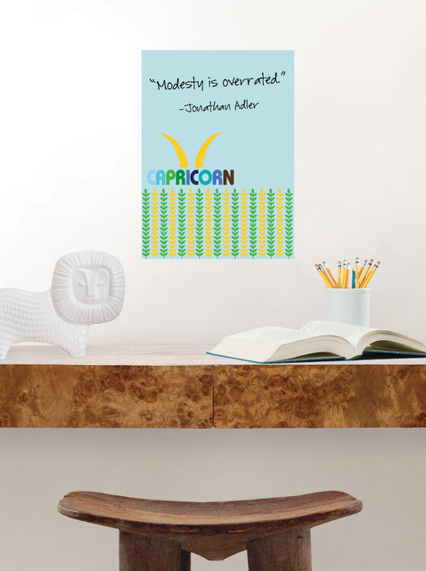 Capricorn Zodiac Dry-Erase Message Board traditional-home-office