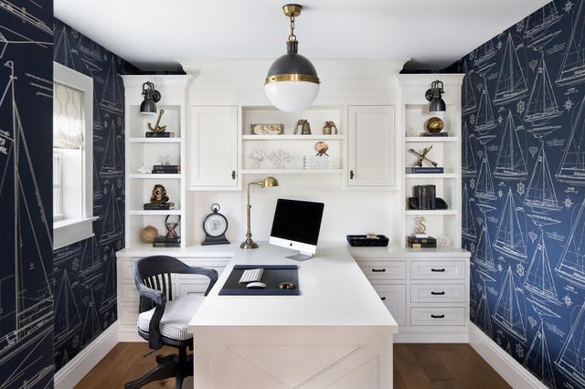 Lisa Michael Interiors · Interior Designers U0026 Decorators. Carriage Hill  Beach Style Home Office