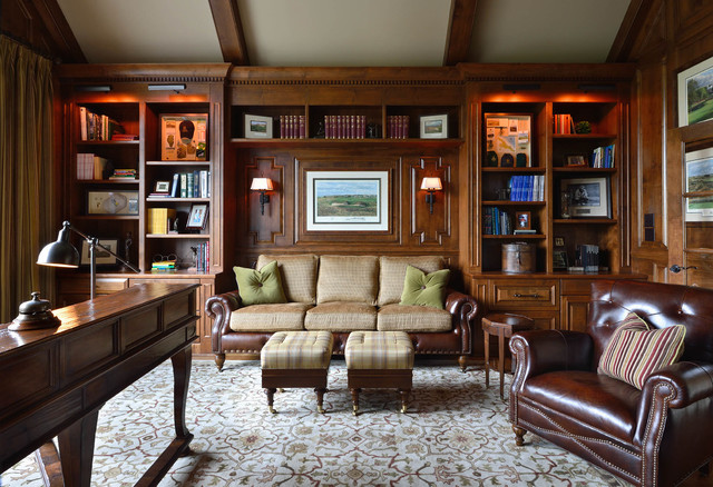 cc traditional home office and library - Traditional Home Office