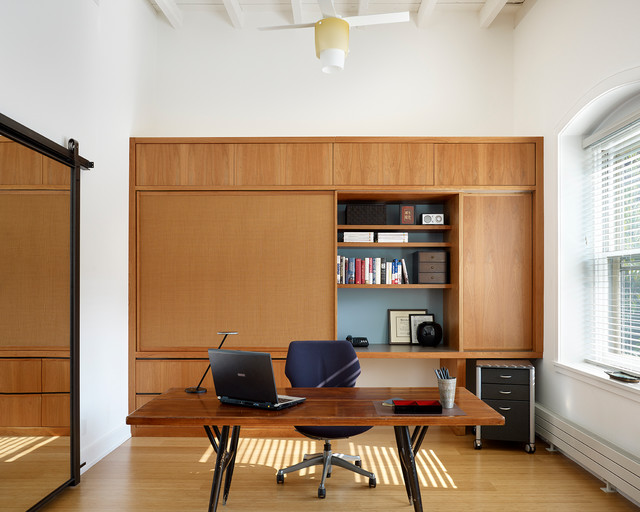 Center City Home Office - Modern - Home Office - philadelphia - by Boland Woodworking