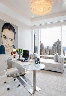 Central Park Apartment Contemporary Home Office Library New York By Colin Miller
