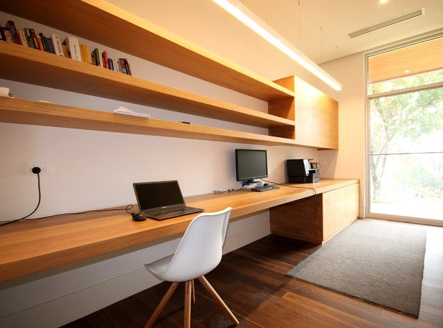 chapel hill full house fitout - scandinavian - home office & library