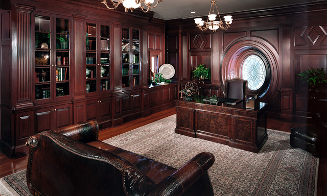 Charlotte Private Home Office Traditional Home Office