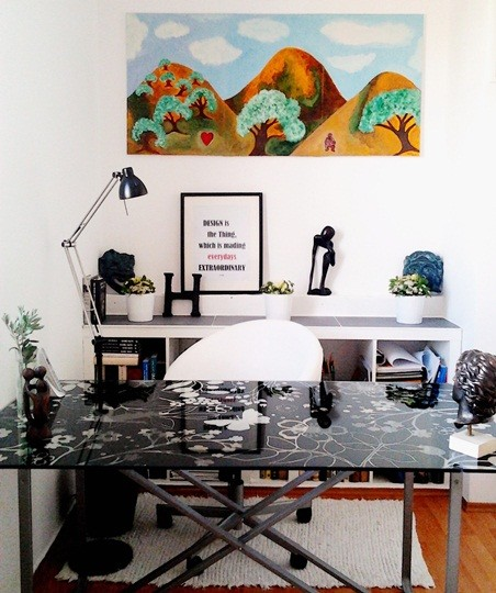 Charming home office contemporary-home-office