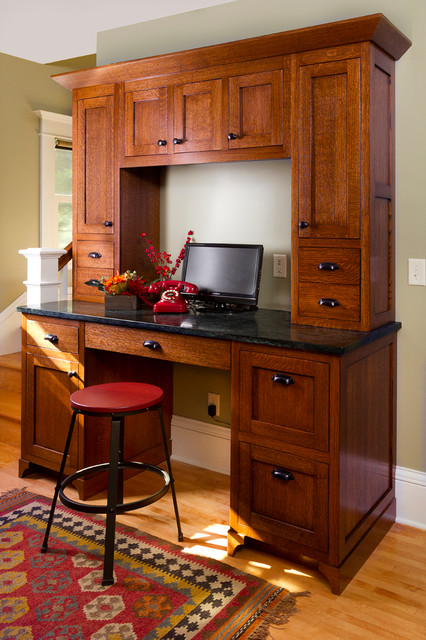Charming minneapolis bungalow craftsman home office for Craftsman style office
