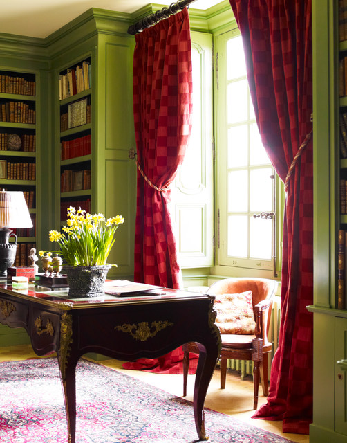 Ch Teau Du Grand Luc Traditional Home Office Los