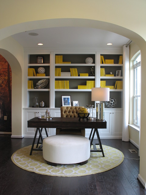 Transitional Home Office Design Chateaus - beauvais - transitional ...