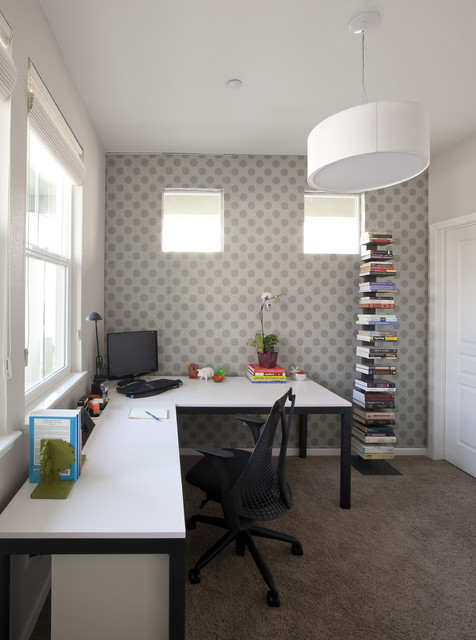 home office renovation. Office Renovation Contemporary-home-office-and-library Home O
