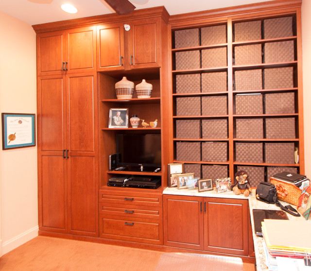 cherry custom home office desk and storage in upper marlboro maryland transitional home cherry custom home office desk