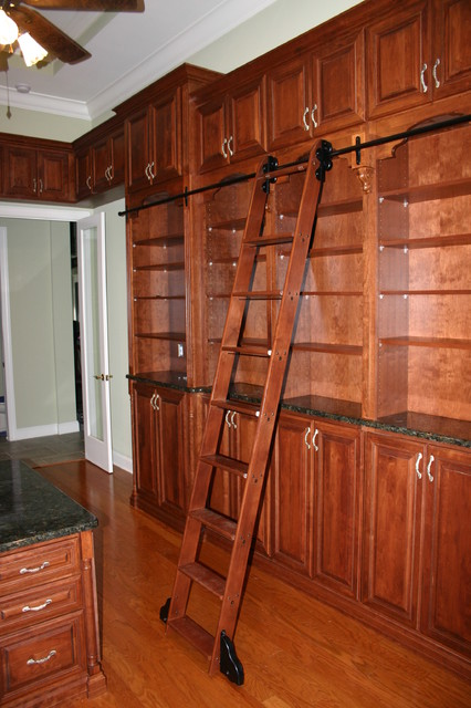 Cherry Library traditional-home-office