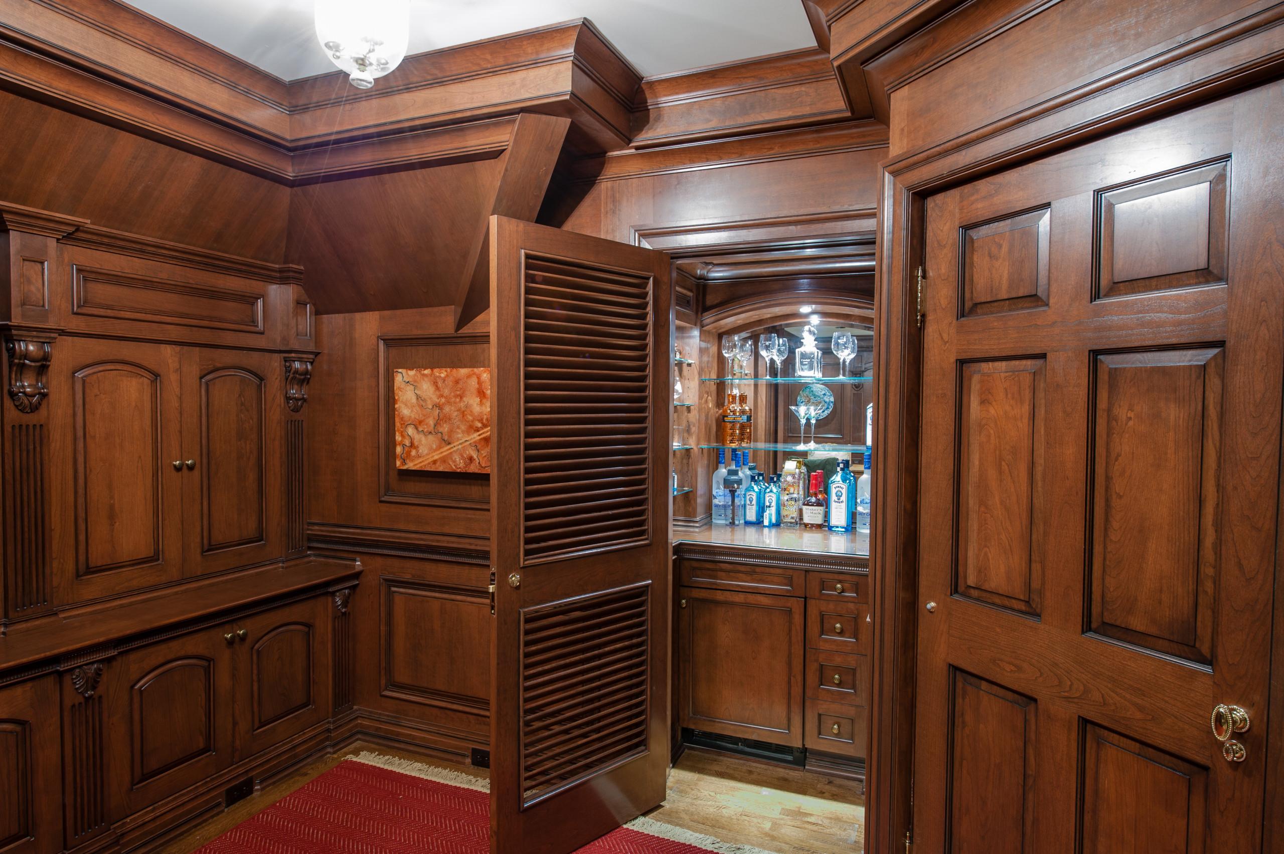 Cherry wood office